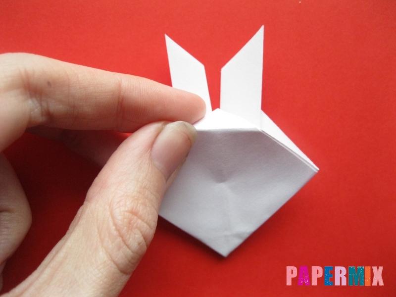 Как сделать мордочку зайчика из бумаги поэтапно - шаг 9