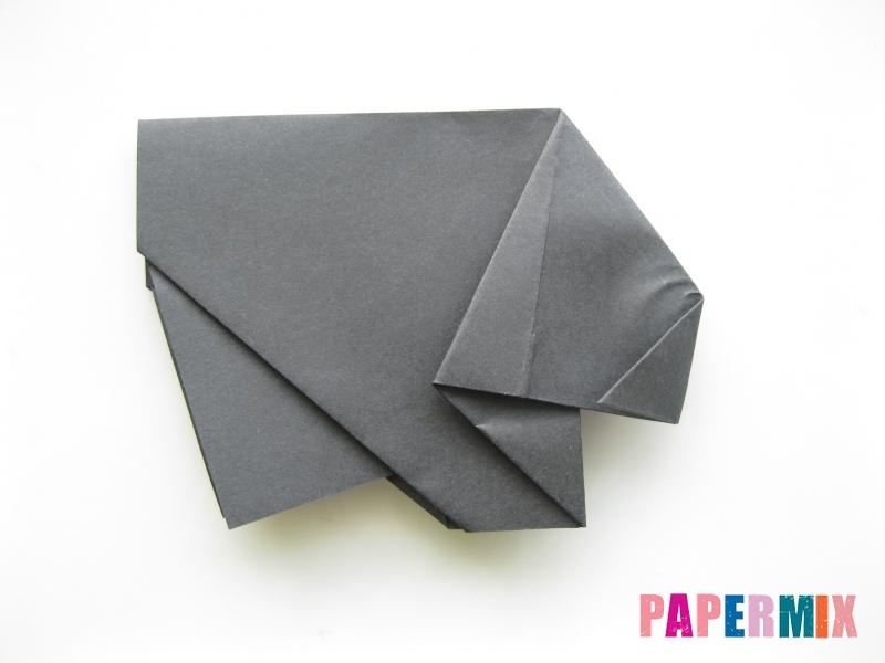 Как сделать носорога из бумаги (оригами) поэтапно - шаг 10