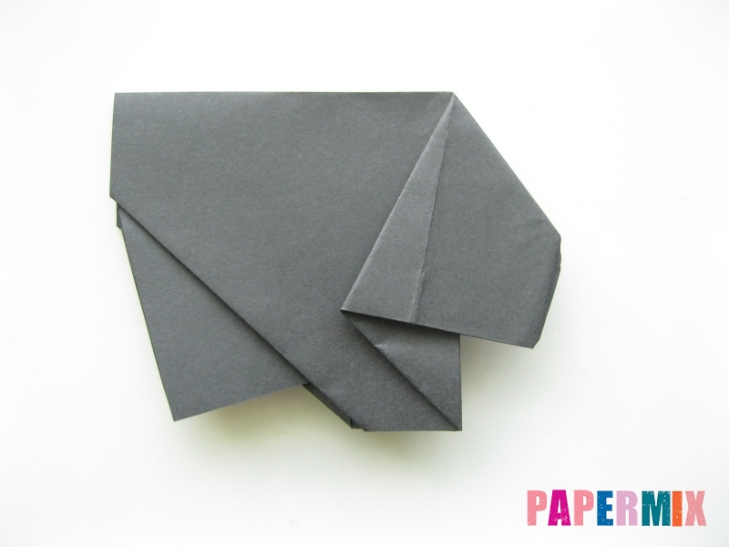 Как сделать носорога из бумаги (оригами) поэтапно - шаг 12