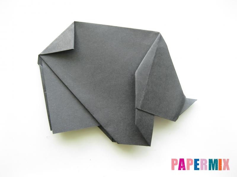 Как сделать носорога из бумаги (оригами) поэтапно - шаг 15