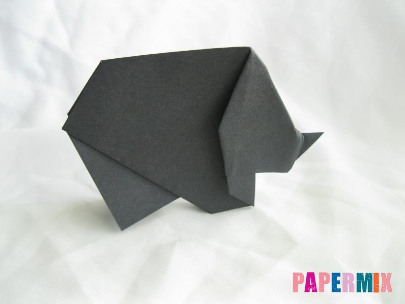 Как сделать носорога из бумаги (оригами) поэтапно - шаг 17