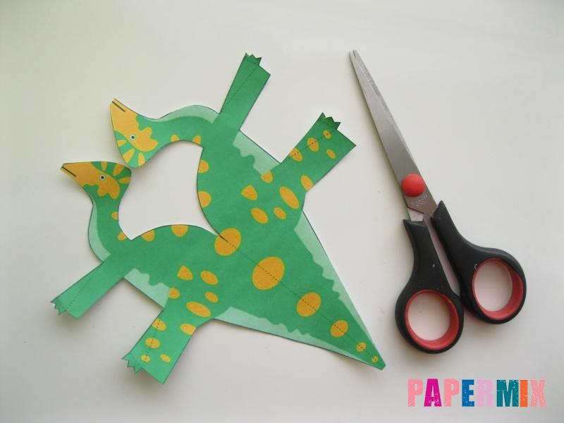 Как сделать объемного Гипакрозавра по шаблону из бумаги - шаг 1