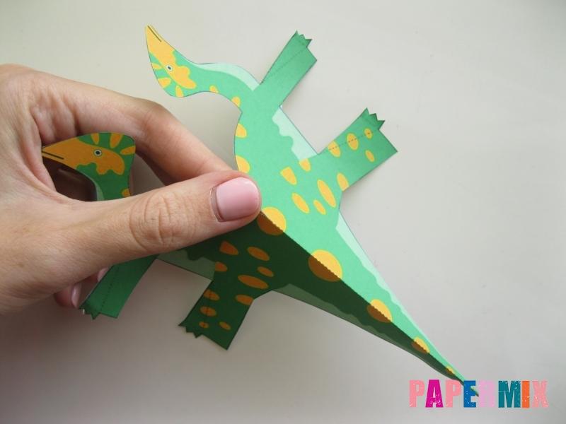 Как сделать объемного Гипакрозавра по шаблону из бумаги - шаг 2