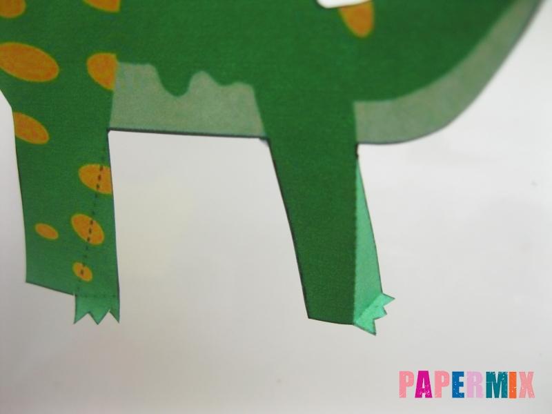 Как сделать объемного Гипакрозавра по шаблону из бумаги - шаг 3