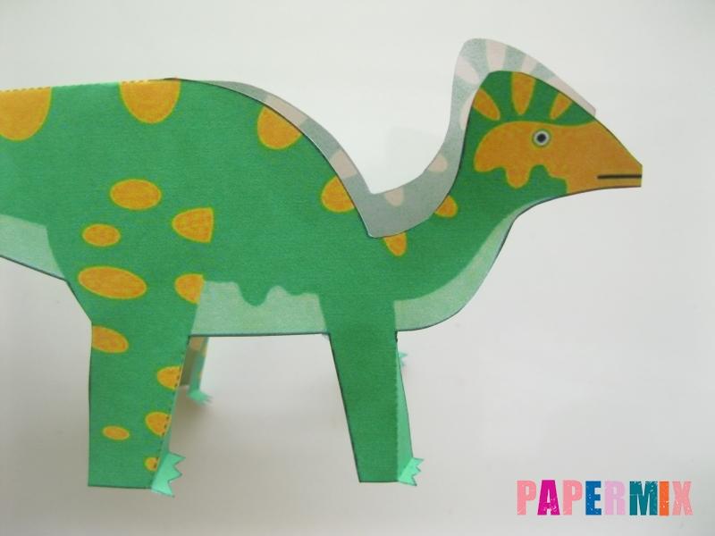 Как сделать объемного Гипакрозавра по шаблону из бумаги - шаг 4