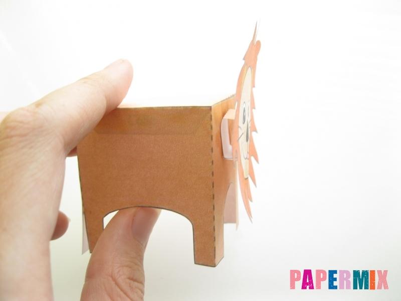 Как сделать объемного льва по шаблону из бумаги - шаг 6
