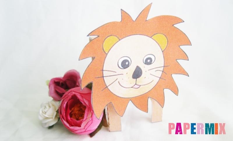 Как сделать объемного льва по шаблону из бумаги своими руками поэтапно