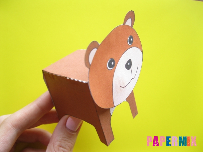Как сделать объемного медведя по шаблону из бумаги - шаг 10