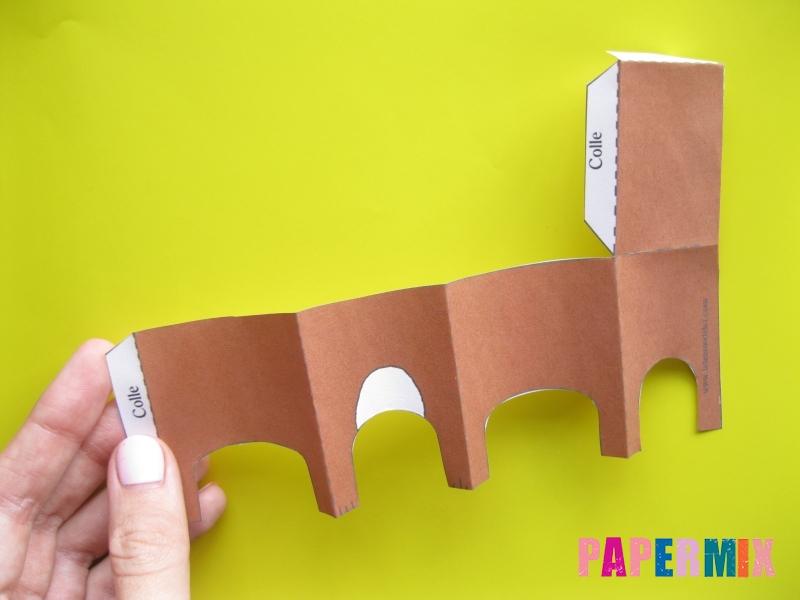 Как сделать объемного медведя по шаблону из бумаги - шаг 2