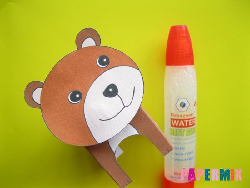 Как сделать объемного медведя по шаблону из бумаги - шаг 6