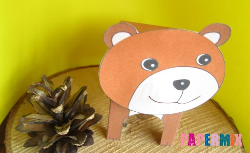 Как сделать объемного медведя по шаблону из бумаги своими руками поэтапно