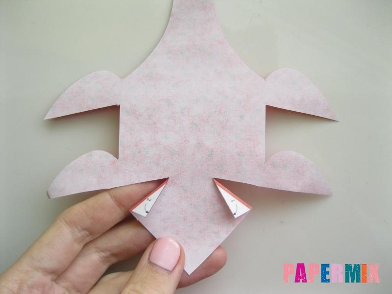 Как сделать объемного Плезиозавра по шаблону из бумаги - шаг 3