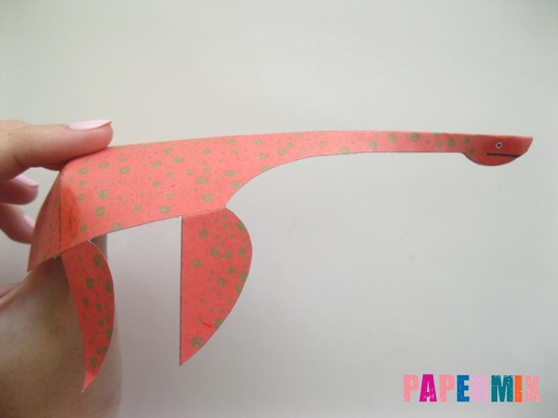 Как сделать объемного Плезиозавра по шаблону из бумаги - шаг 8
