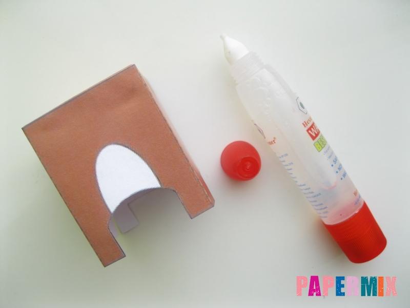 Как сделать объемного зайчика по шаблону из бумаги - шаг 3