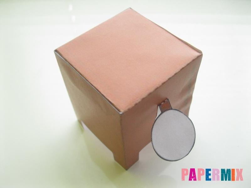 Как сделать объемного зайчика по шаблону из бумаги - шаг 6