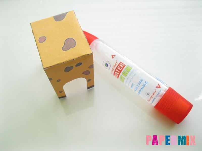 Как сделать объемного Жирафа по шаблону из бумаги - шаг 3