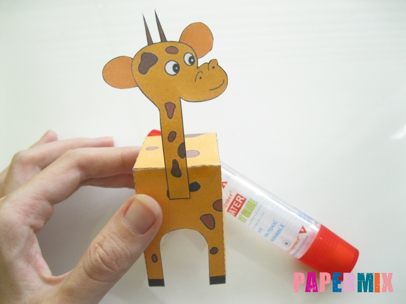 Как сделать объемного Жирафа по шаблону из бумаги - шаг 4