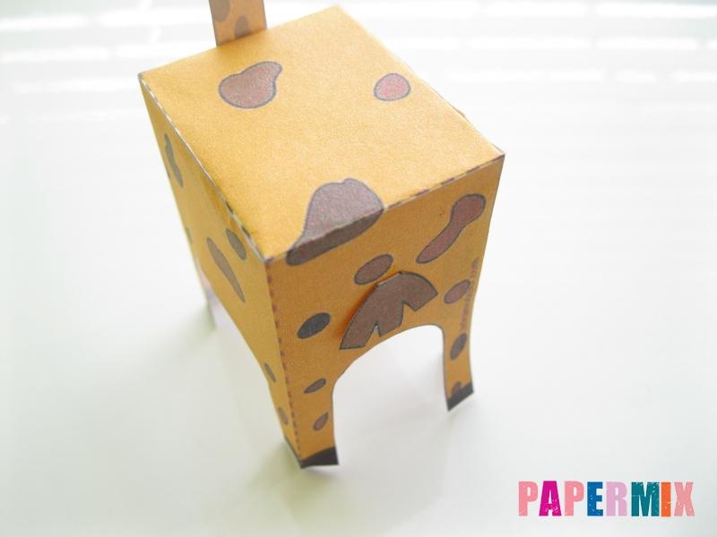 Как сделать объемного Жирафа по шаблону из бумаги - шаг 6