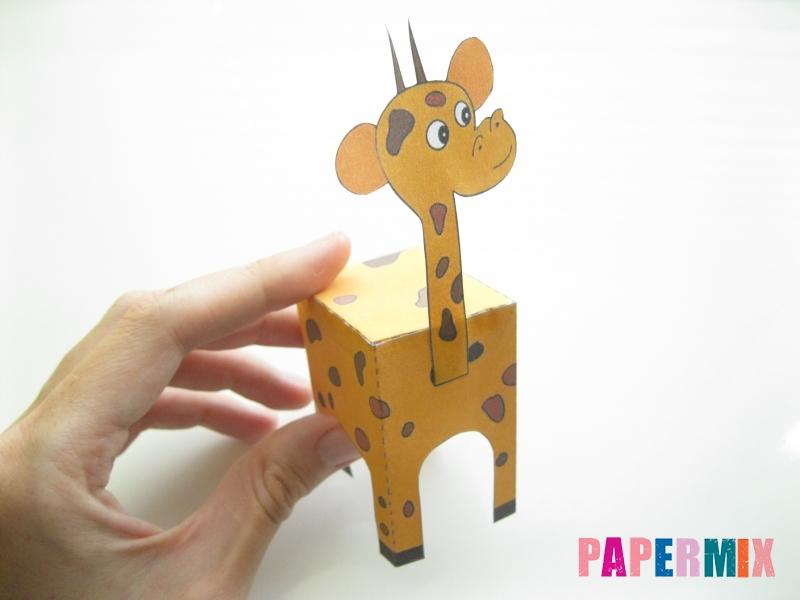 Как сделать объемного Жирафа по шаблону из бумаги - шаг 7