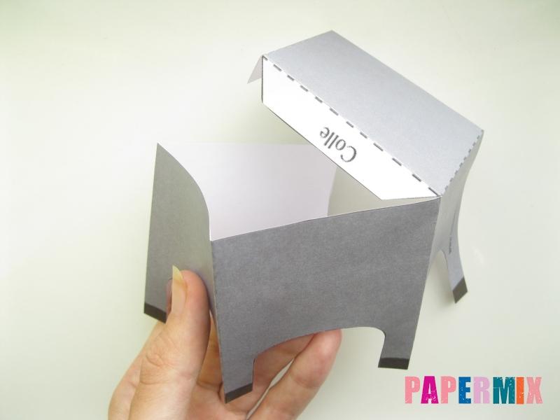Как сделать объемную бегемота из бумаги по шаблону - шаг 2