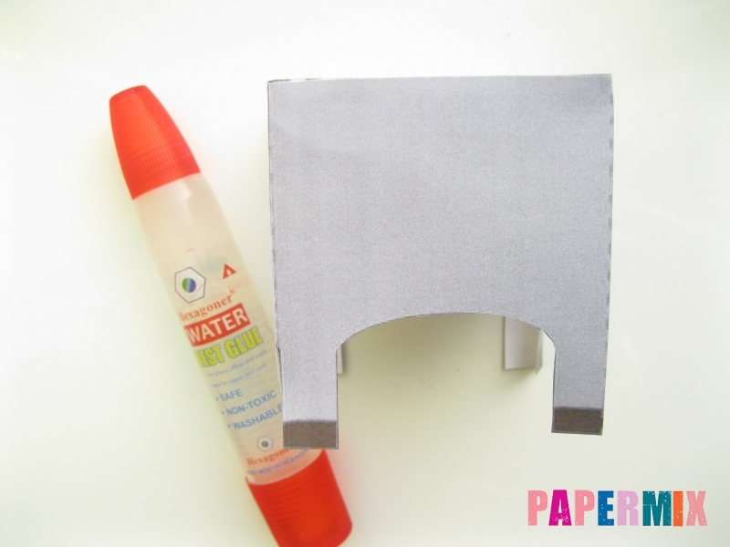 Как сделать объемную бегемота из бумаги по шаблону - шаг 3