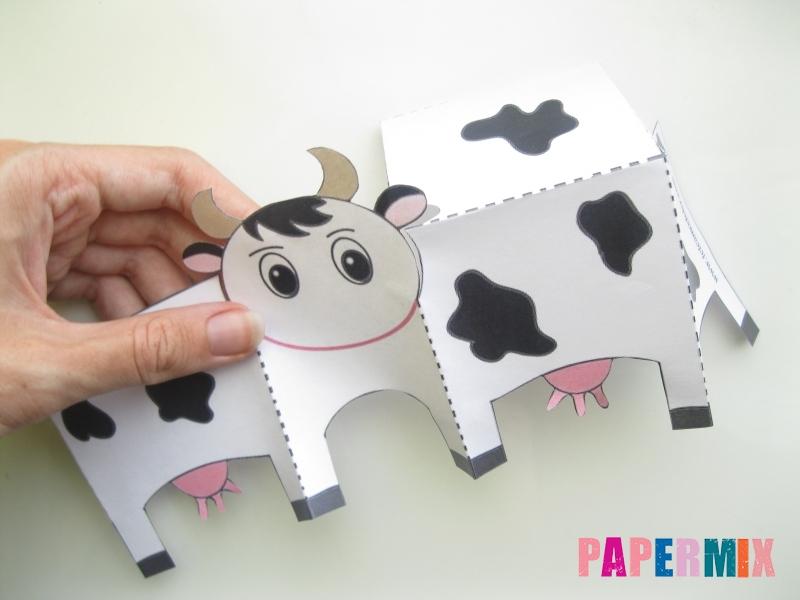 Как сделать объемную корову по шаблону из бумаги - шаг 2