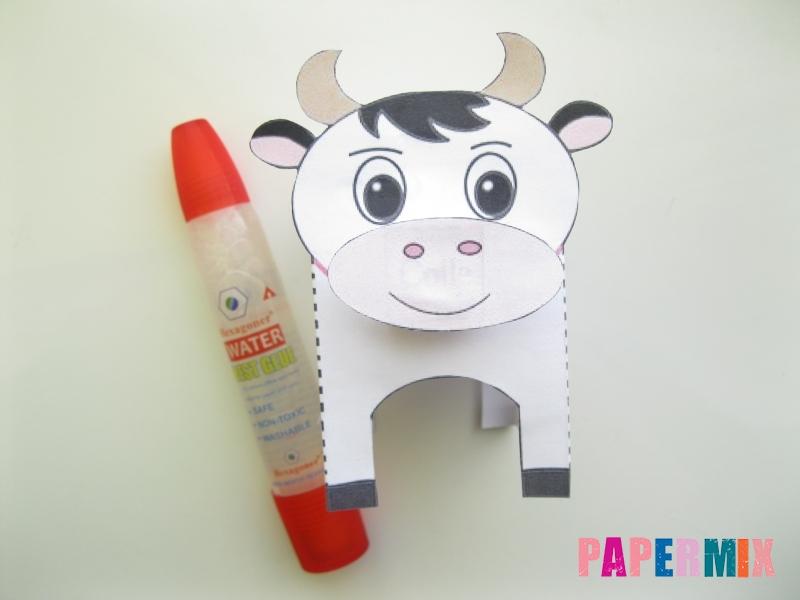 Как сделать объемную корову по шаблону из бумаги - шаг 5