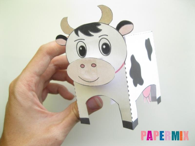 Как сделать объемную корову по шаблону из бумаги - шаг 7