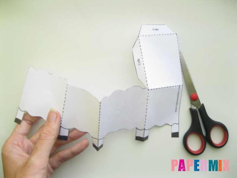 Как сделать объемную овечку по шаблону из бумаги - шаг 2