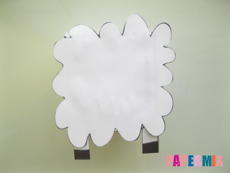 Как сделать объемную овечку по шаблону из бумаги - шаг 4