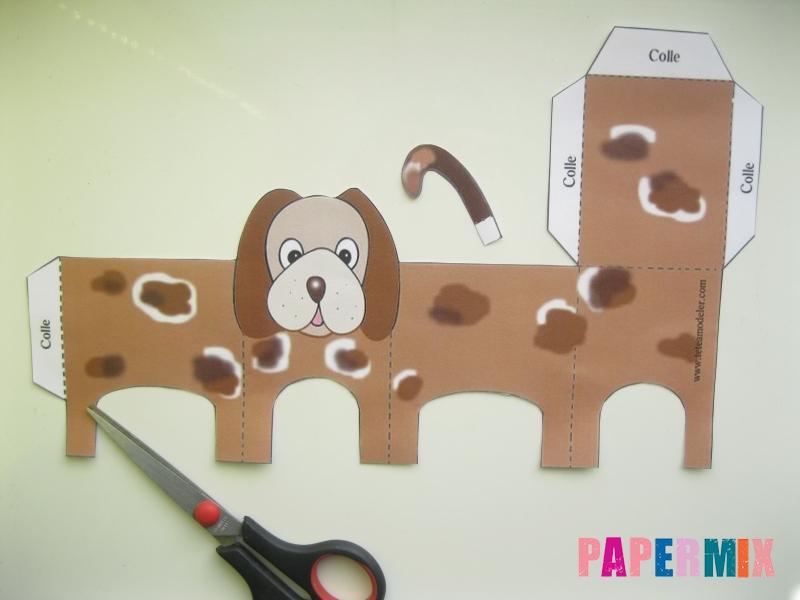 Как сделать объемную собаку по шаблону из бумаги - шаг 1