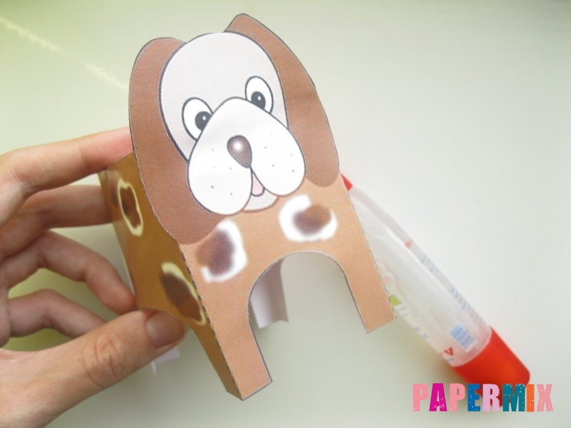 Как сделать объемную собаку по шаблону из бумаги - шаг 3