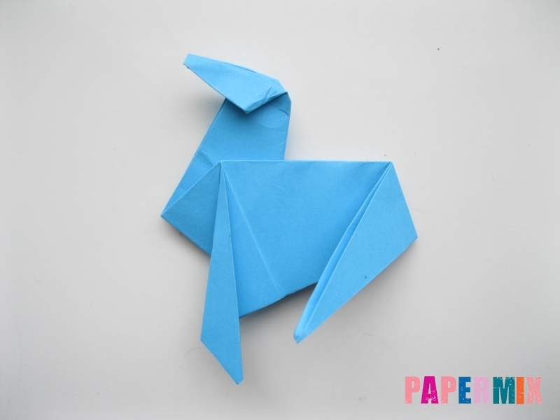 Как сделать оленя из бумаги (оригами) поэтапно - шаг 13