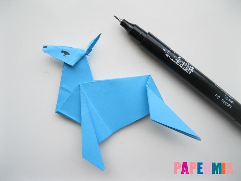 Как сделать оленя из бумаги (оригами) поэтапно - шаг 17