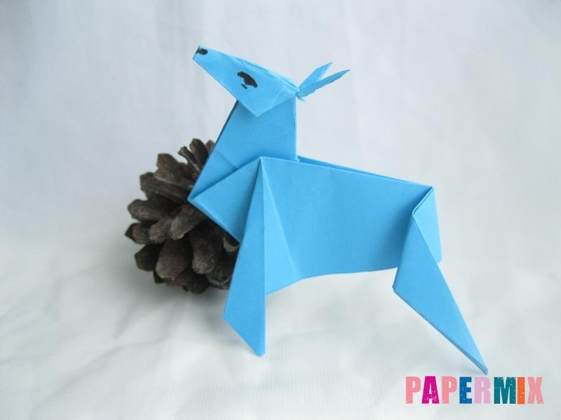 Как сделать оленя из бумаги (оригами) поэтапно - шаг 18
