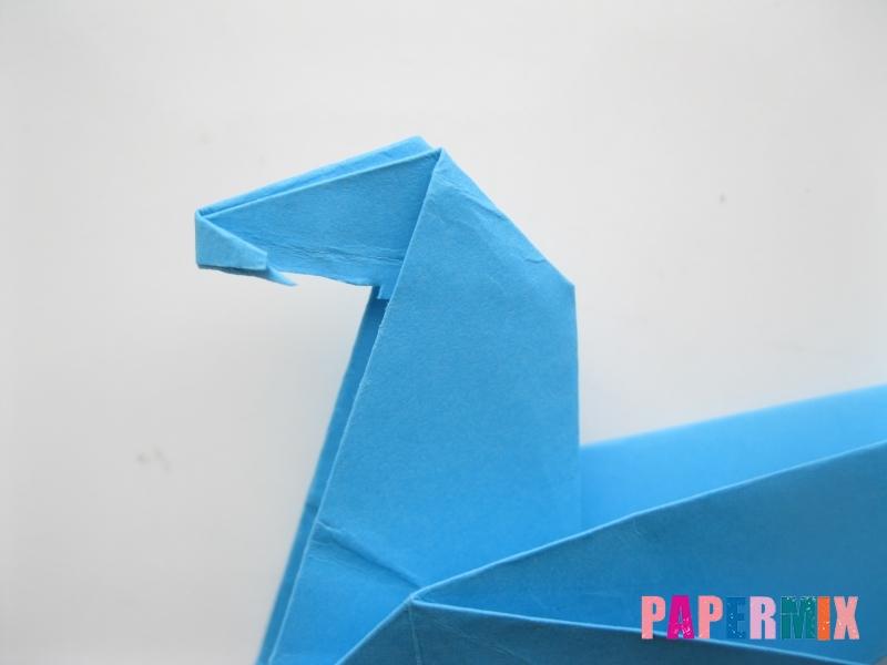 Как сделать оленя из бумаги (оригами) поэтапно - шаг 9