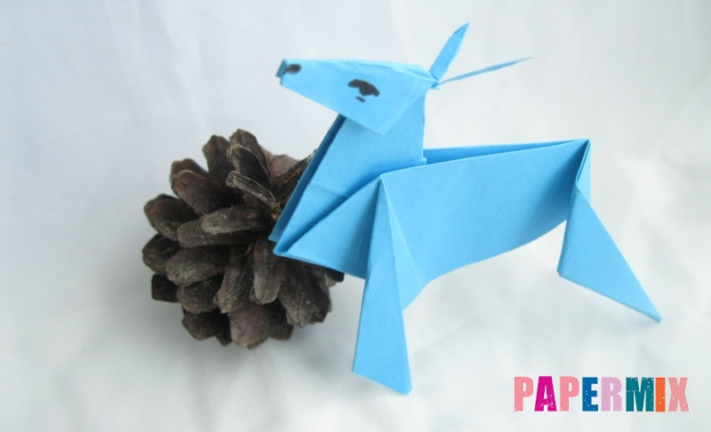 Как сделать оленя из бумаги в технике оригами своими руками