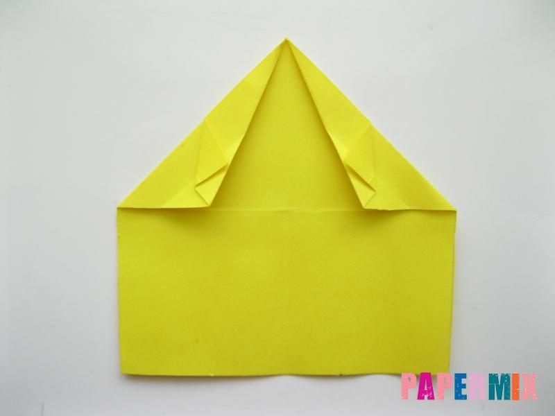 Как сделать овчарку из бумаги (оригами) поэтапно - шаг 6