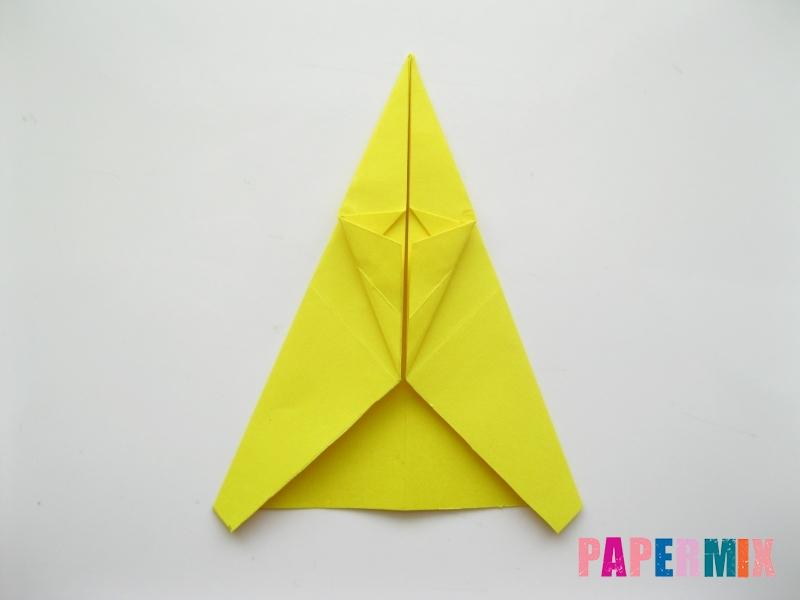 Как сделать овчарку из бумаги (оригами) поэтапно - шаг 9