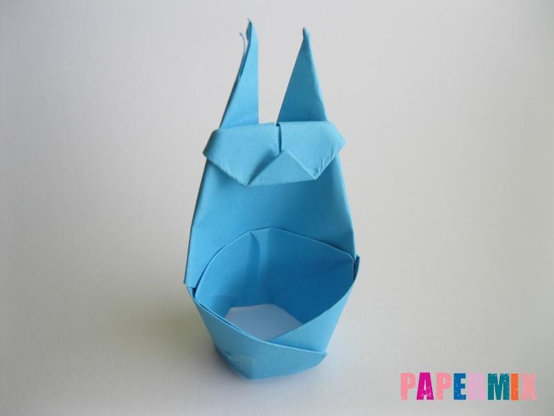 Как сделать пасхального зайца из бумаги поэтапно - шаг 14