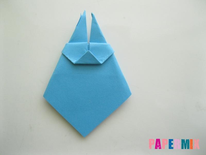 Как сделать пасхального зайца из бумаги поэтапно - шаг 8