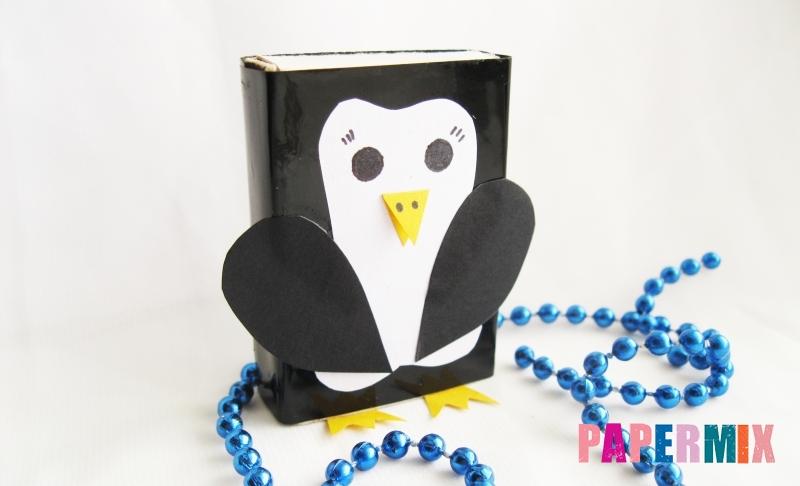 Как сделать пингвина из спичечного коробка своими руками