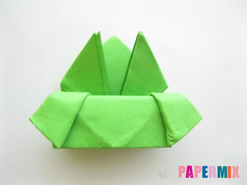 Как сделать прыгающую лягушку из бумаги своими руками - шаг 16