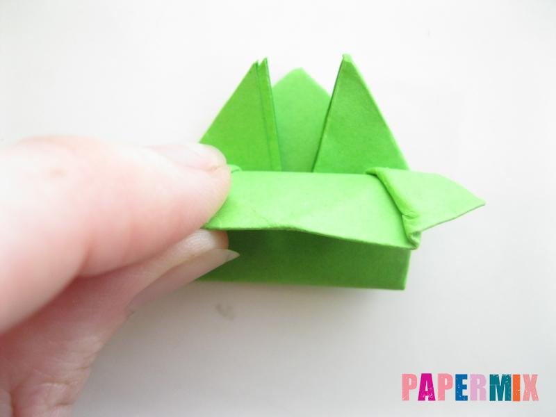 Как сделать прыгающую лягушку из бумаги своими руками - шаг 17