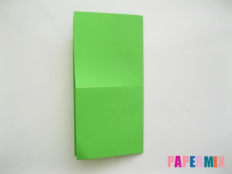 Как сделать прыгающую лягушку из бумаги своими руками - шаг 2