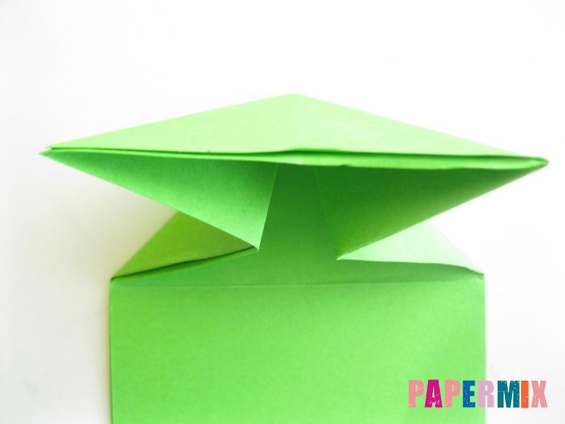 Как сделать прыгающую лягушку из бумаги своими руками - шаг 7