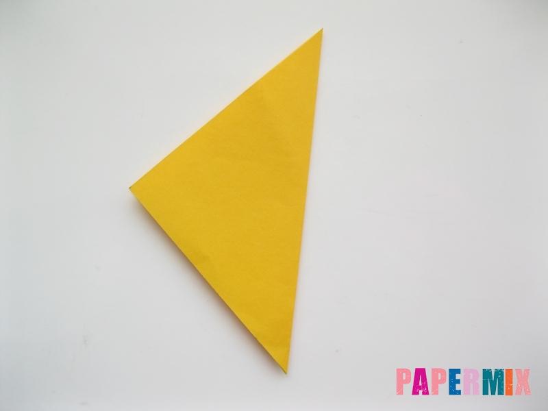 Как сделать рыбку из бумаги поэтапно - шаг 1