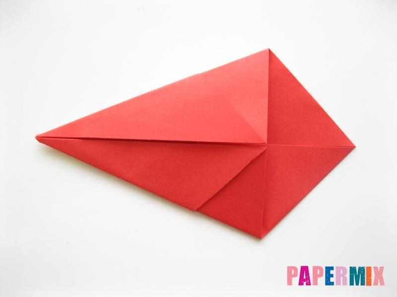 Как сделать рыбу из бумаги (оригами) инструкция - шаг 6