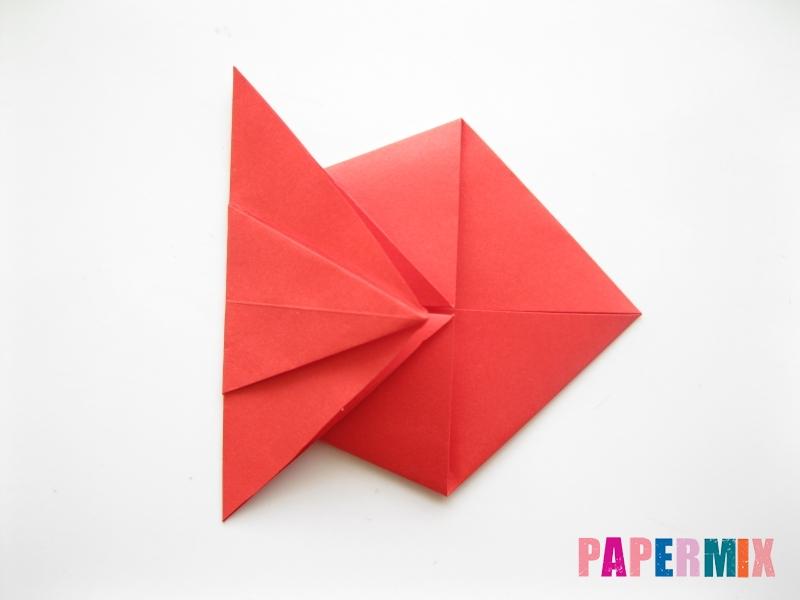 Как сделать рыбу из бумаги (оригами) инструкция - шаг 8