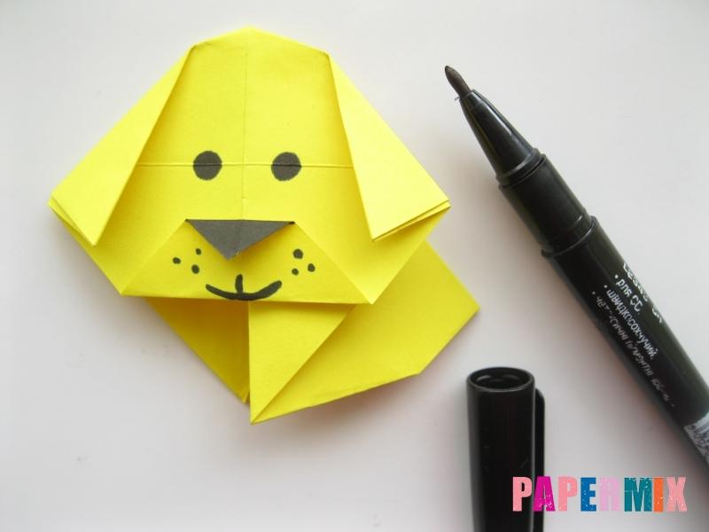 Как сделать щенка из бумаги поэтапно - шаг 12